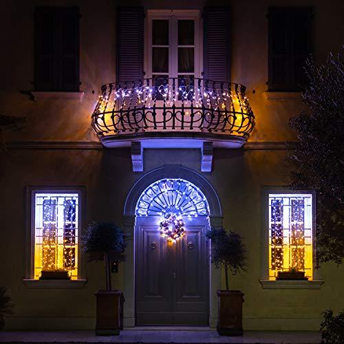Twinkly Catena Luminosa tipo Stalattite Edizione Gold con 190 LED Cambiacolore di 5 metri per Esterni