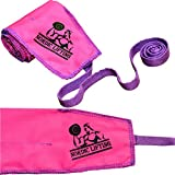 Cross Training Wrist Wraps (1 Pair/2 Wraps) 32' Pure Strength for Weightlifting | Workout | Gym | Bodybuilding - Support for Women & Men - Avoid Injury During Weight Lifting - Pink Purple