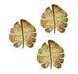 TOV Furniture Gold Leaf Decorative Mounted Wall Art Set, Set of 3