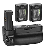 Neewer Vertical Battery Grip for Sony A9 A7III A7RIII Cameras, Replacement for Sony VG-C3EM with 2 Packs 7.2v 2280mAh 16.4Wh Rechargeable Li-ion Battery