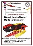 DAS ORIGINAL - STARTERSET MIT KLICK - NUSS - DAS ORIGINAL für Camping-Wurmi-Zeltheringe-Schraubheringe-STARTERSET inkl TASCHE ZELTHERINGE/SCHRAUBHERINGE/BODENANKER - STARTERSET - Wurmi-produkte ® - SCHRAUBHERINGE mit HAKENCLIPS -
