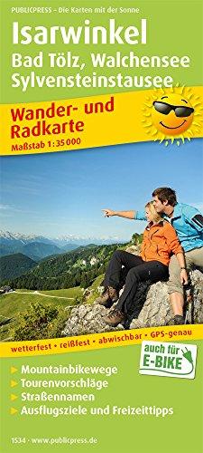 Isarwinkel, Bad Tölz, Walchensee, Sylvensteinstausee: Wander- und Radkarte mit Ausflugszielen & Freizeittipps, wetterfest, reißfest, abwischbar, GPS-genau. 1:35000 (Wander- und Radkarte: WuRK)