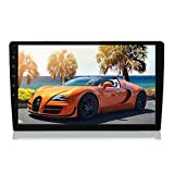 10.1 Inch Android Car Stereo Double Din Car Radio with 2.5D HD Touch Screen Bluetooth FM AM Radio Receiver Support GPS WiFi Android&iOS Mirror Link + Dual USB Port/Subwoofer Output