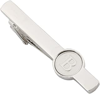 20856d8f52d8 Dannyshi Men Tie Clip 2.1 Inch Silver Plated Stainless 26 Letters A-Z +  Gift Box