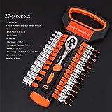 Herramientas Auto Reparación y hogares de trinquete llave de tubo Set de herramientas for mecánicos kit del sistema de llaves de vaso de auto combinación herramienta de reparación de 1 Unidad (6,3 mm)