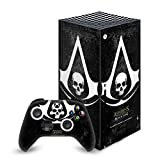 Head Case Designs Officially Licensed Assassin's Creed Grunge Black Flag Logos Vinyl Sticker Skin Decal Cover Compatible with Xbox Series X Console and Controller Bundle