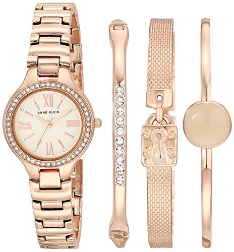 Anne Klein AK/3582 - Reloj y pulsera de cristal Swarovski para mujer