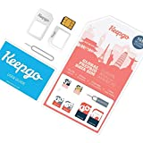 Keepgo - Tarjeta SIM Internacional 4G LTE - Europa - +30 países Cubiertos - 1GB Incluido