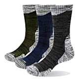 YUEDGE 3 Paires Homme Chaussettes Multi-Performance Wicking...