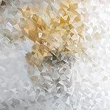 LMKJ Película de Vidrio de Mantenimiento Fresco estática Forma geométrica protección de privacidad esmerilada película de Ventana Decorativa Etiqueta de Vidrio A72 45x200cm