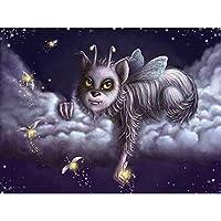 漫画の動物 -大人のためのDIY5Dダイヤモンドペインティング絵画キットフルドリルラインストーン貼り付けアートクラフトダ家の装飾モザイクキッズなギフト40X50cm
