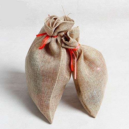 Christmas Attention brand Bag Linen Drawstring Candy Max 61% OFF Sp Pouch Storage