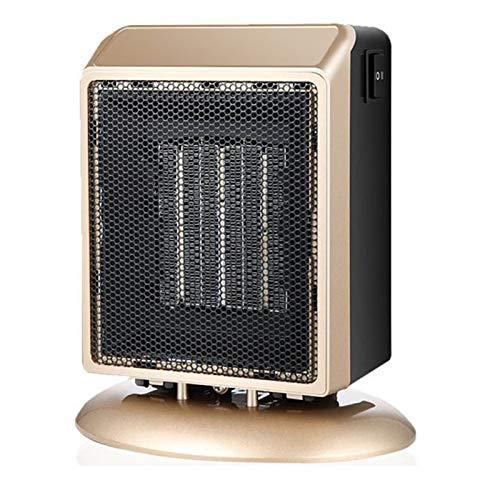 BEDSETS Calefactor Cerámico 400W / 900W Mini Ventilador De Calentacdor Eléctrico contra Sobrecalentamiento Y Protección contra Volcado para Oficinas Y Hogar (Golden)