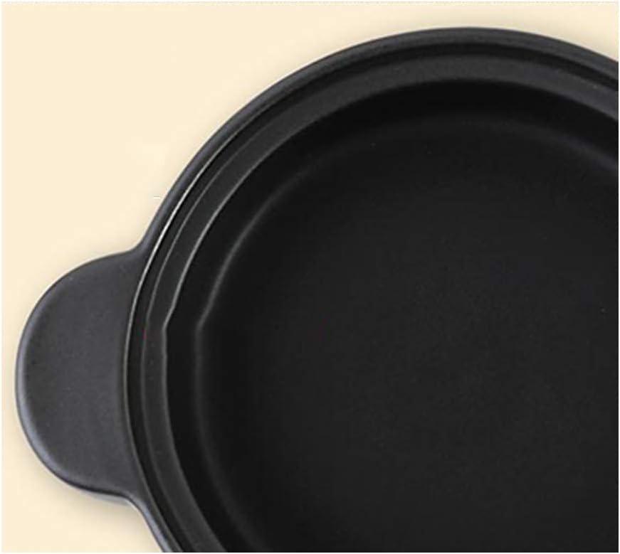 Casserole haute température Casserole en céramique Multifonctionnel,Pot à ragoût Pot à soupe en céramique Pot de riz Flamme nue applicable-D D