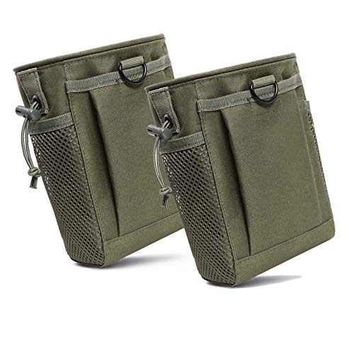 2-Pack Dump Pouch, Drawstring Magazine Dump Pouch, Tactical Molle Dump Bags, Adjustable Military Tactical Pouches,for Outdoor and Tactical Sports