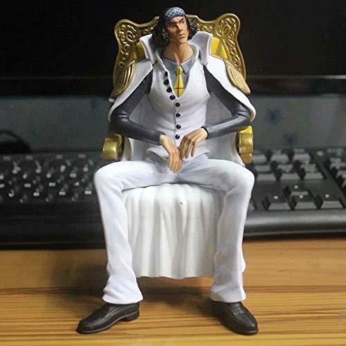 JINFENFG Ein Stück/einteilig DREI Naval Admirals Kuzan Grüner Fasan sitzt auf Sofa 16 cm PVC Material Boxed Figur Modell szenerie Spielzeug Figur Geburtstagsgeschenk neujahrsgeschenk