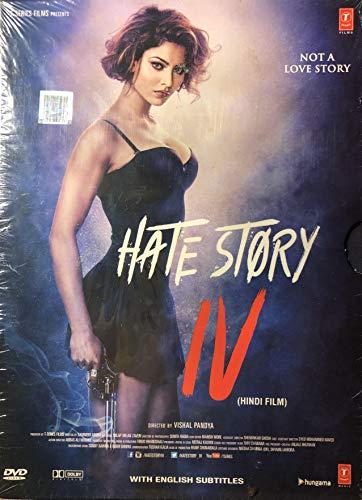 HATE STORY 4 Film ~ DVD ~ Bollywood ~ Hindi mit englischem Untertitel ~ India ~ 2018 ~ Original T-SERIES DVD ~ verkauf nur über Bollywood 24/7