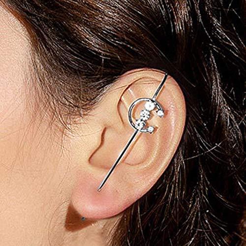 Canghai Pendientes de gancho para orejas con diseño de agujas alrededor del auricular (estilo 8)