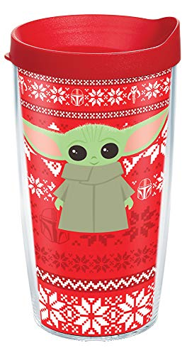 Tervis Star Wars - The Mandalorian Insulated Tumbler, 16oz - Tritan, Child Holiday Christmas Sweater