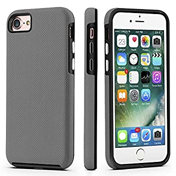 CellEver Dual Guard Protective Cover Compatible with iPhone SE 2020 Case/iPhone 7 Case/iPhone 8 Case Shock-Absorbing Scratch-Resistant Rugged Drop Protection Cover  Slate