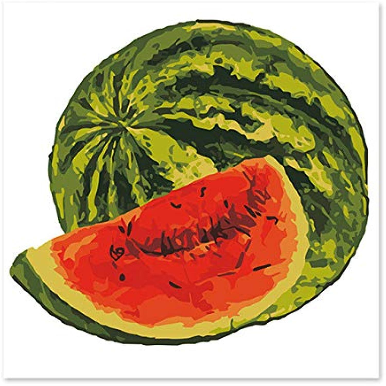Agolong Große Wassermelone-süße Wassermelone-dekorative Malereien zeichnen auf der Leinwand-Digital-Malerei berühmten Malereiauszugs-Malerei Mit Rahmen 40x50cm B07MCLSLQY | Schön In Der Farbe