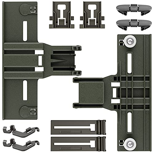 Upgraded 10 Pcs New Polymer Material Dishwashers Adjuster Kit W10350376 Dishwasher Top Rack & W10195840 & W10195839 & W10082853 & W10508950 Replacement for Whirlpool Kenmore
