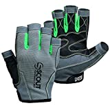 SCOUTPERFORMANCEGEAR New Sailing Gloves Kayak Yachting Rope Dinghy Fishing Waterski Sports Dexter Series Green (Large(8.5'-9.5'))