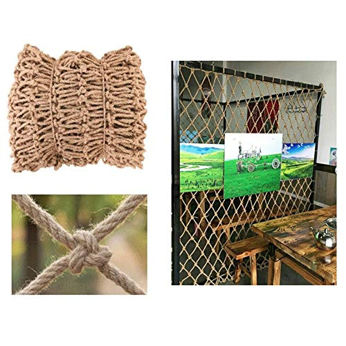 ZHANGYUQI Garden Railing Stairs Kids Anti-Fall Net, Partition Network Cafe Net Curtains Jute Netting Garden Netting Cafe Bookstore Industrial Wind Punk Decoration 8mm/8cm Multiple Sizes