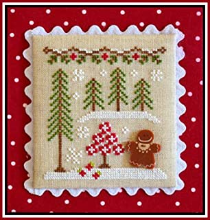 Gingerbread Village 2-Gingerbread Girl And Peppermint Tree Cross Stitch Chart