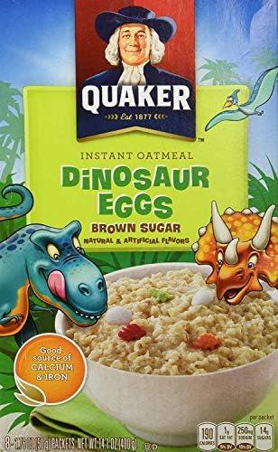 Quaker Dinosaur Eggs Brown Sugar Instant Oatmeal 400g Box