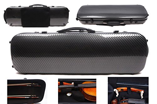 4/4 New violin Case Carbon fiber Fiberglass Oblong case Strong
