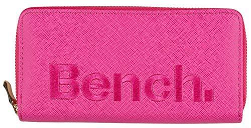 BENCH Damen Reißverschluss Geldbörsen Geldbeutel Portemonnaie Brieftasche NEU, Farbe:Pink