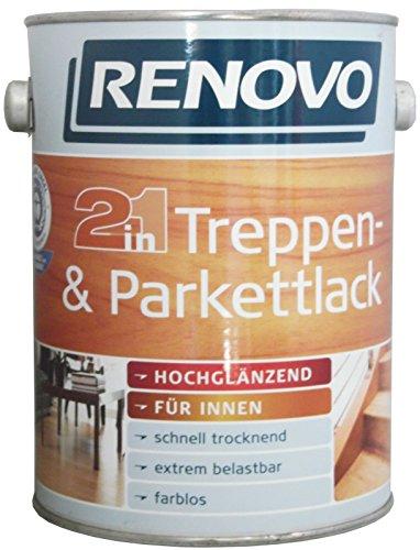 2,5 Liter RENOVO Treppen- und Parkettlack 2in1 Hochglänzend lmf
