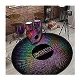 Alfombras De Tambor Manta Antideslizante Insonorizada | Percusión E-tambor Alfombra Para Kits Electrónicos | Alfombra De Tambor Profesional Para La Trampa De Tambor De(Size:160cm in diameter,Color:F)
