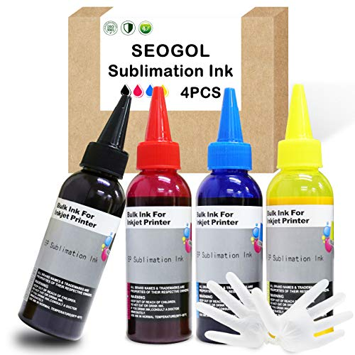 400ml Sublimation Ink for Epson Inkjet Printers C88+ C88 WF7710 WF7720 ET2720 ET15000 WF7010 WF7110 WF7210 WF7610 WF3610 Heat Press Transfer on Mugs, Pillow, Plates, Polyester Shirts, Phone Cases etc