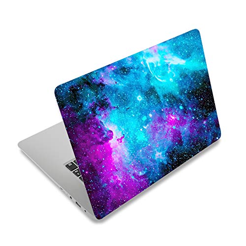 """Laptop Skin Sticker Decal,12"""" 13"""" 13.3"""" 14"""" 15"""" 15.4"""" 15.6 inch Laptop Vinyl Skin Sticker Cover Art Protector Notebook PC (Free 2 Wrist Pad Included), Decorative Waterproof Removable, Nebula Galaxy"""