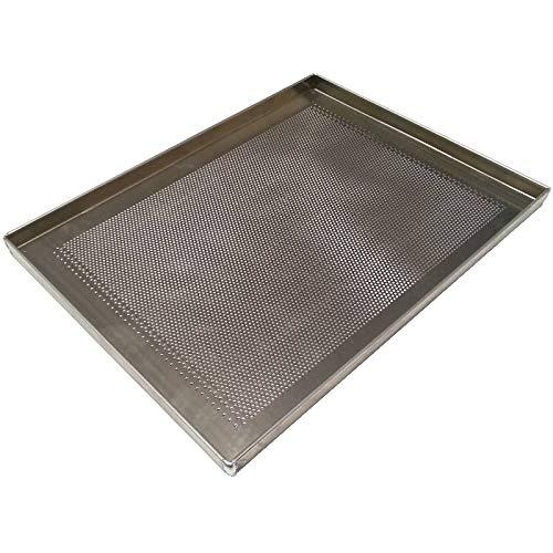 Erre4m Teglia da Forno Forata 60x40x2(h.) cm. in Alluminio Professionale