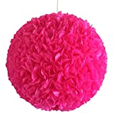 Pink Fluffy, Ø 32cm, pinke Papierlampe Hängelampe Lampe Lampenschirm Pendellampe Designerlampe...