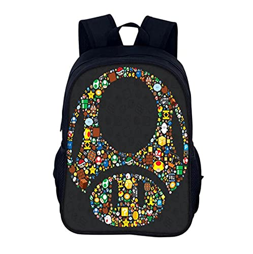 Super Mario School Bag Fashion Baby Boys Girls Kids School Bags 3D Book Bag Mario VS Sonic Cartoon Backpack Toddler Anime Children Backpacks