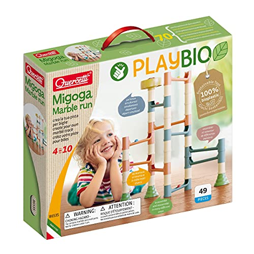 Quercetti- Circuito canicas Migoga marbel Run Play Bio, Multicolor (XQU-86535)