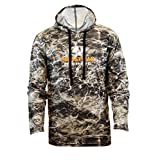 Staghorn Mens Fishing Camo Performance Tech Hoodie, Mossy Oaks Elements Aqua Sandcrab, Large