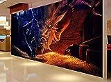 Hobbit Dragon Papier Peint Salon 3D Grande Murale Papier Peint Fond TV Plancher...