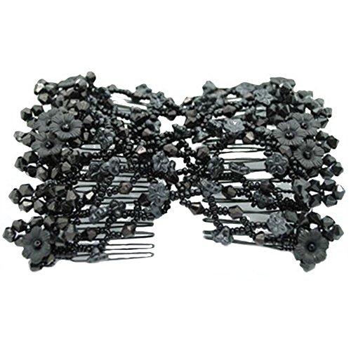 Contever®-Pettine per capelli con fiocco, regolabile, doppia clip, per donna/signora Ondulatori