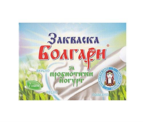 Cultivo de yogur'BOLGARI' – Paquete de 7 bolsitas de cultivo liofilizado para preparar yogur probiótico