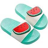 Scarpe da Spiaggia e Piscina Ragazzi e Ragazze Pantofole estive Sandali Donna Bagno Frutta Ciabatte da Doccia,Verde_Anguria,31-32 EU/Etichetta 32-33
