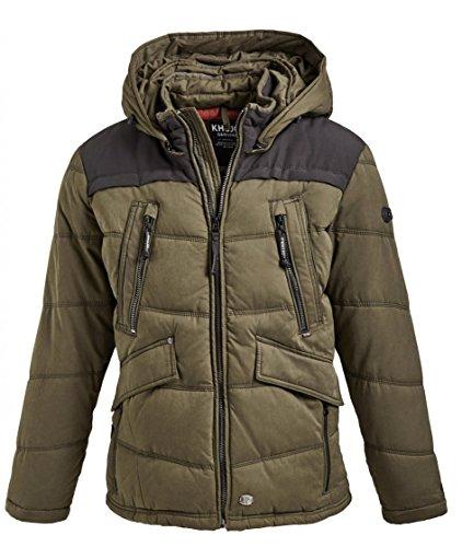 khujo Chad Olive Herren Winterjacke Jacke Parka Jacket Coat Oliv grün (XXL)