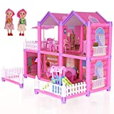 Dollhouse Toy House with Accessories and Furniture, Kids Dollhouses...