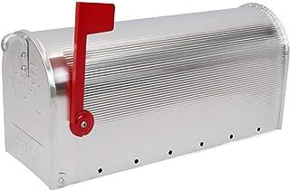 PrimeMatik - US Mail Aluminiowa skrzynka pocztowa na srebrno