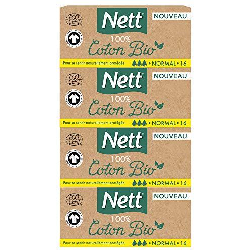 Nett Tampons Digitaux Normal, Boite Bio, 16 Pièces/ Lot de 4