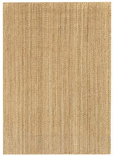 HAMID - Alfombra de Yute Granada 100% Fibra de Yute Natural - Alfombra Suave - Tejida a Mano - Alfombra de Salón, Comedor, Dormitorio, Pasillos, Entrada - Natural (230x160cm)